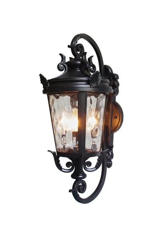 "Casa Marseille Outdoor Wall Light Fixture Bronze Scroll 27 1/2"" for House Patio Porch - G7-4583/27"