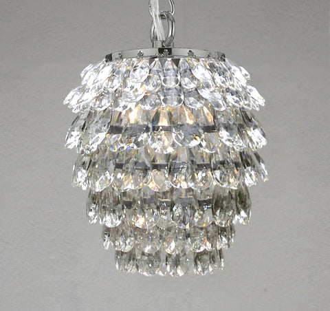 "CRYSTAL PENDANT LIGHTING CHANDELIER CHANDELIERS H10.5"" x W6.5"" - J10-26018/1"