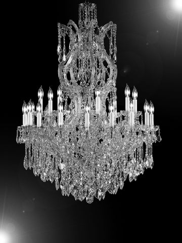 "Maria Theresa Chandelier Crystal Lighting Chandeliers H 50"" W 37"" Great For L... - G83-Cs/2232/24+1Sw"