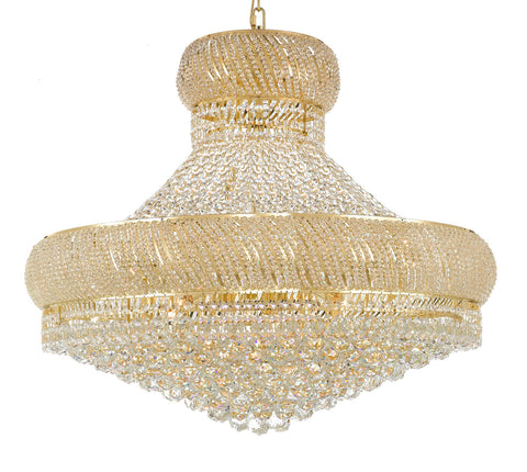 "Nail Salon French Empire Crystal Chandelier Chandeliers Lighting - Great for the Dining Room, Foyer, Entryway, Family Room, Bedroom, Living Room and More! H 30"" W 36"" 27 Lights - G93-H30/CG/4196/27"