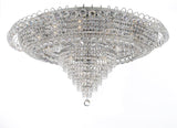 "French Empire Crystal Flush Chandelier Lighting H 19"" W 39"" - H905-LYS-6649-Silver"