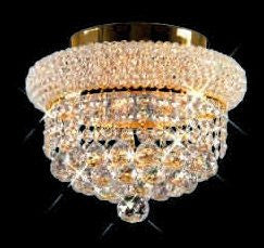 ZC121-V1800F12G By REGENCY - Primo Collection 24k Gold Plated Finish Flush Semi-Flush Lighting