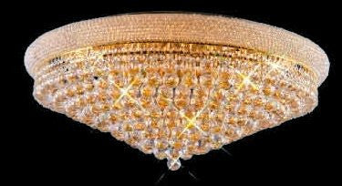ZC121-V1800F36G By REGENCY - Primo Collection 24k Gold Plated Finish Flush Semi-Flush Lighting