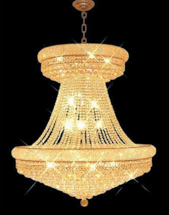 ZC121-V1800G36SG By REGENCY - Primo Collection 24k Gold Plated Finish Chandelier