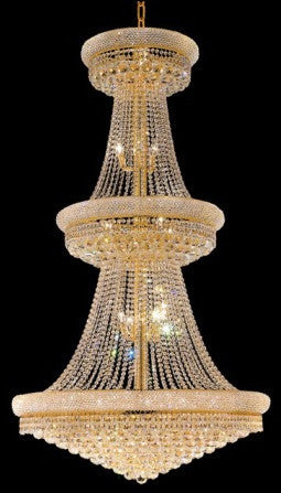 ZC121-V1800G42G By REGENCY - Primo Collection 24k Gold Plated Finish Chandelier