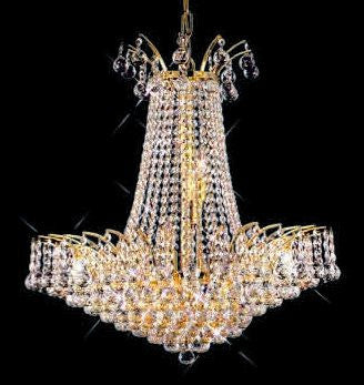 ZC121-V8031D29G By REGENCY - Victoria Collection 24k Gold Plated Finish Chandelier