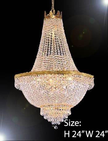 "French Empire Crystal Chandelier Lighting H24"" X W24"" - Go-A93/C3/870/9"