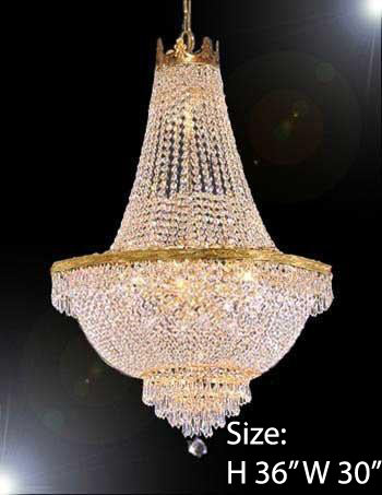 "French Empire Crystal Chandelier Lighting H36"" X W30"" - A93-870/14"
