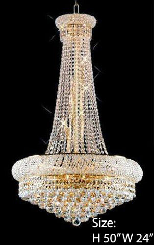 "Swarovski Crystal Trimmed Chandelier French Empire Crystal Chandelier H50"" X W24"" - Go-A93-Large/542/15 Sw"