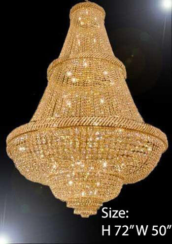 "French Empire Crystal Chandelier Lighting H72"" X W50"" - Perfect For An Entryway Or Foyer - Go-A93-448/48"