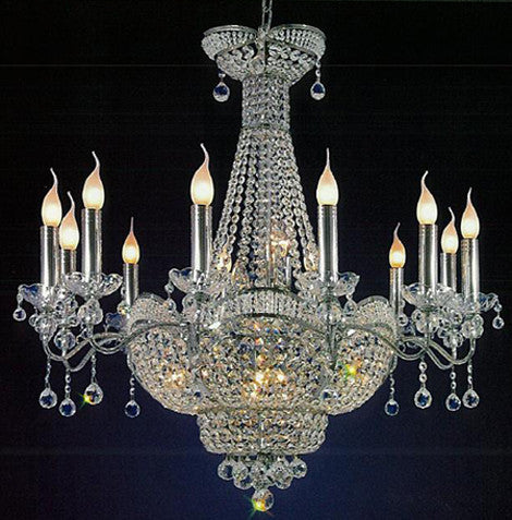 H906-WL61178-12CH By Empire Crystal-Chandelier