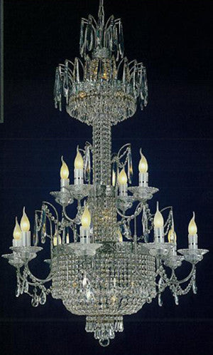 H906-WL61405-8+4CH By Empire Crystal-Chandelier