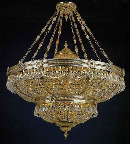 H906-WL61503-930CKP02 By Empire Crystal-Chandelier
