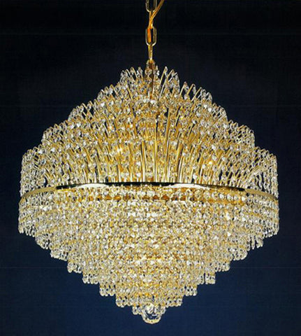 H906-WL61514-560KG By Empire Crystal-Chandelier