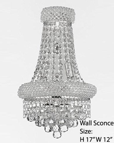 "Empire Empress Crystal (Tm) Wall Sconce Lighting W 12"" H 17"" - Cjd-Cs/2182/12S/Wallsconce"