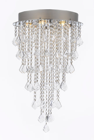 "Modern Contemporary Chandelier ""Rain Drop"" Chandeliers Lighting with Crystal Balls! Great for the Entryway, Foyer, Living Room, Great Room, Kitchen, Dining Room! H32"" X W18"" - J10-B12/B7/26059/6"