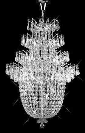 C121-SILVER/5800/2738 Flora CollectionEmpire Style CHANDELIER Chandeliers, Crystal Chandelier, Crystal Chandeliers, Lighting