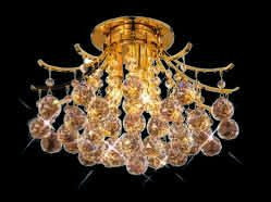 ZC121-V8000F16G By REGENCY - Toureg Collection 24k Gold Plated Finish Flush Semi-Flush Lighting