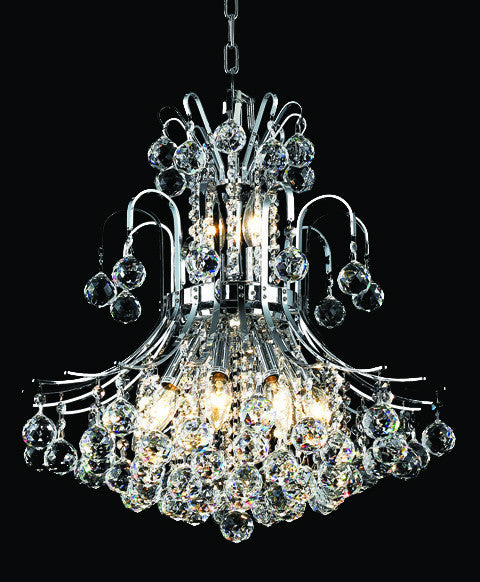 ZC121-V8001D19C By REGENCY - Toureg Collection Polished Chrome Finish Chandelier