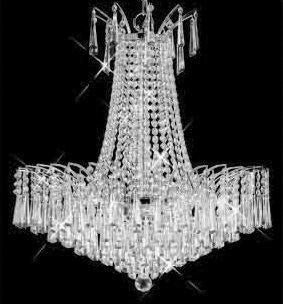 C121-SILVER/8032/2424 Victora CollectionEmpire Style CHANDELIER Chandeliers, Crystal Chandelier, Crystal Chandeliers, Lighting