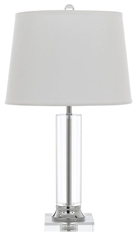 Crystal Column Table Lamp With Shade - T204-1221