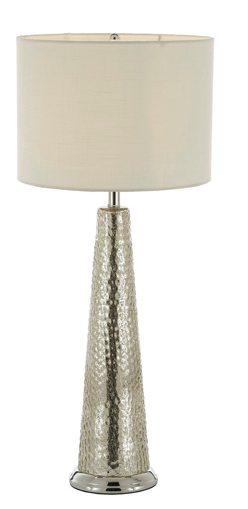 Hammered Metal Table Lamp With Shade - J10-SP-101