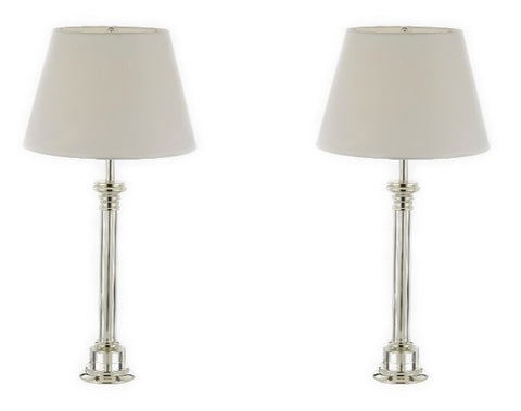 Set of 2 - Crystal Column Table Lamp Bedside Lamp Desk Lamp - T204-SP-102-SET OF 2