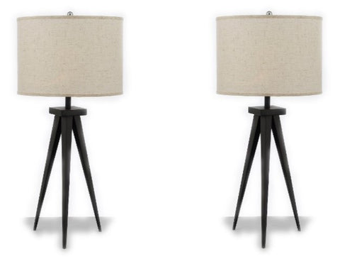 "Set of 2 - Modern Contemporary 29"" Tripod Table Lamp Desk Lamp Bedside Lamp - T204-SP-105-SET OF 2"