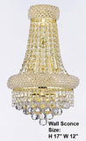 "Empire Empress Crystal(Tm) Wall Sconce Lighting W 12"" H 17"" - J10-Cg/26053/12S/Wallsconce"