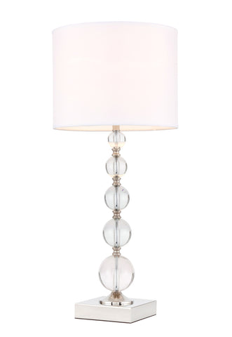 ZC121-TL3027PN - Regency Decor: Erte 1 light Polished Nickel Table Lamp