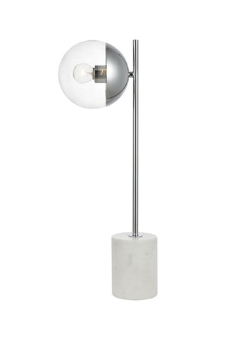 ZC121-LD6107C - Living District: Eclipse 1 Light Chrome Table Lamp With Clear Glass