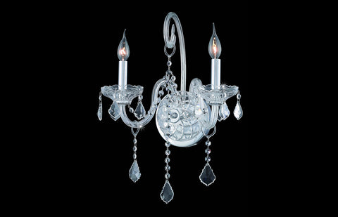 ZC121-V7852W2C/EC - Regency Lighting: Verona 2 light Chrome Wall Sconce Clear Elegant Cut Crystal