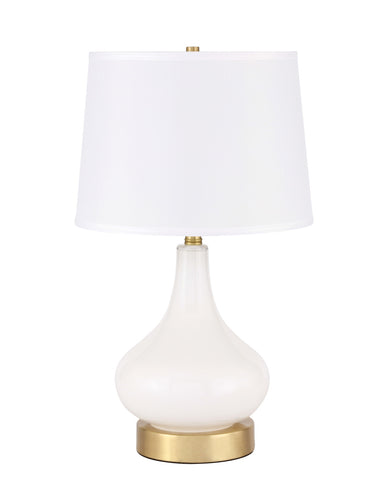 ZC121-TL3035BR - Regency Decor: Alix 1 light Brass Table Lamp