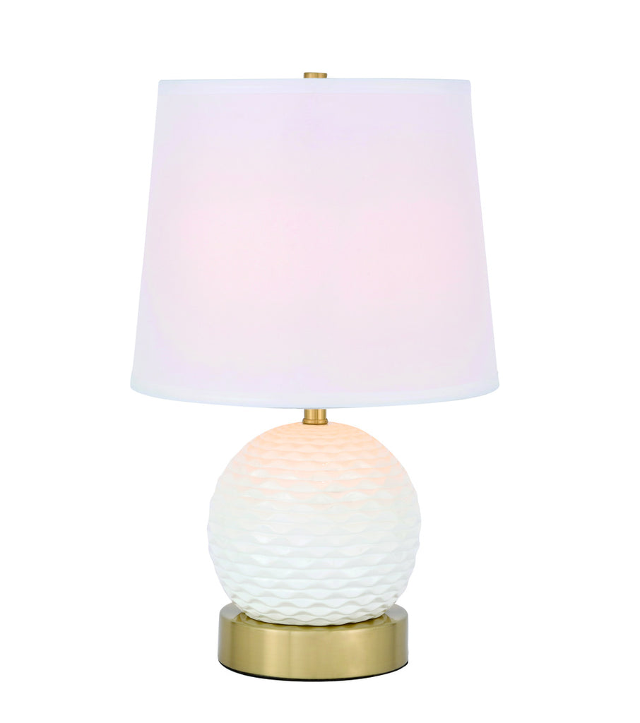 ZC121-TL3034BR - Regency Decor: Haven 1 light Brass Table Lamp
