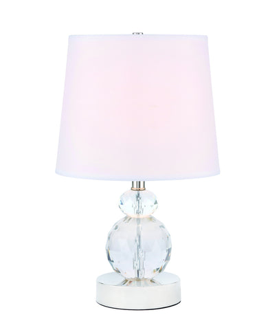 ZC121-TL3031PN - Regency Decor: Maribelle 1 light Polished Nickel Table Lamp