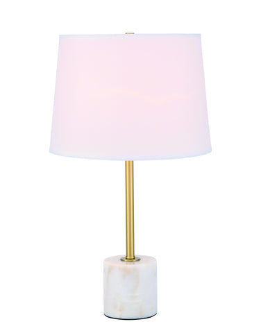 ZC121-TL3039BR - Regency Decor: Kira 1 light Brass Table Lamp