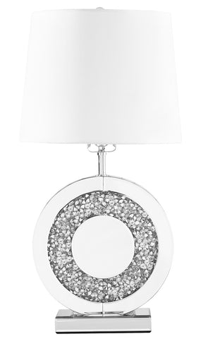 ZC121-ML9307 - Regency Decor: Sparkle Collection 1-Light Silver Finish Table Lamp
