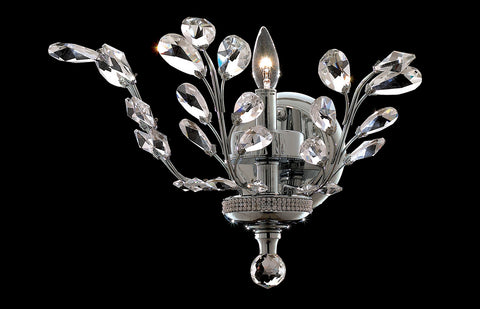ZC121-V2011W16C/EC - Regency Lighting: Orchid 1 light Chrome Wall Sconce Clear Elegant Cut Crystal