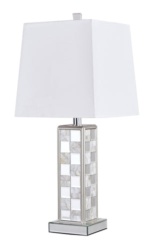 ZC121-ML9304 - Regency Decor: Sparkle Collection 1-Light Silver Finish Table Lamp