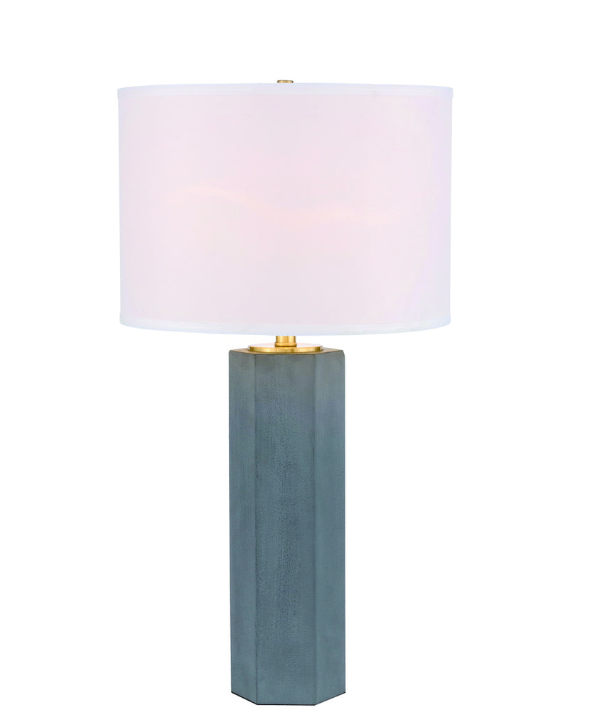 ZC121-TL3043GR - Regency Decor: Donovan 1 light Gray Table Lamp