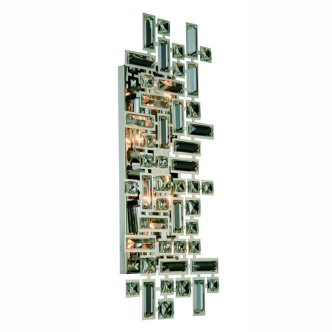 ZC121-V2100W22C/RC - Regency Lighting: Picasso 4 light Chrome Wall Sconce Clear Royal Cut Crystal