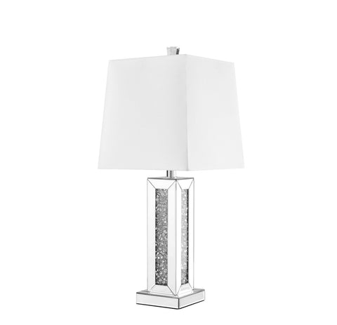 ZC121-ML9311 - Regency Decor: Sparkle Collection 1-Light Silver Finish Table Lamp