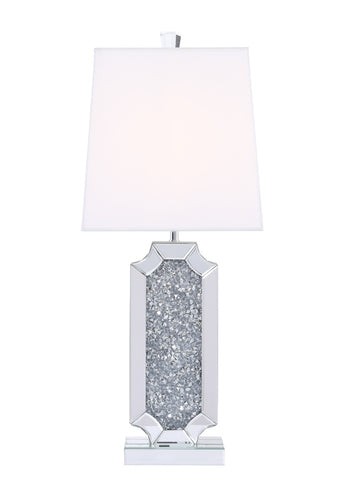 ZC121-ML9332 - Regency Decor: Sparkle Collection 1-Light Silver Crystal Table Lamp