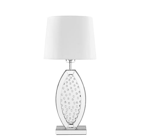 ZC121-ML9313 - Regency Decor: Sparkle Collection 1-Light Silver Finish Table Lamp