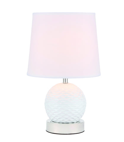 ZC121-TL3034PN - Regency Decor: Haven 1 light Polished Nickel Table Lamp
