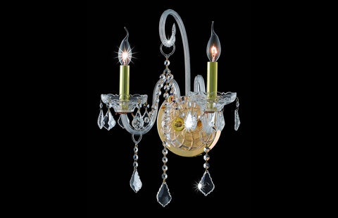 ZC121-V7852W2G/RC - Regency Lighting: Verona 2 light Gold Wall Sconce Clear Royal Cut Crystal