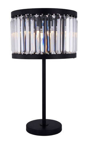 ZC121-1233TL18MB/RC - Urban Classic: Chelsea 4 light Matte Black Table Lamp Clear Royal Cut Crystal