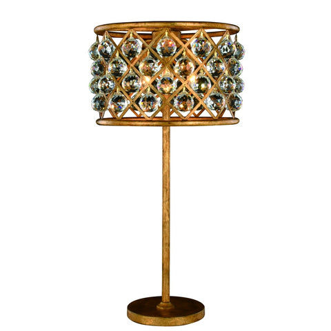 ZC121-1206TL15GI/RC - Urban Classic: Madison 3 light Golden Iron Table Lamp Clear Royal Cut Crystal
