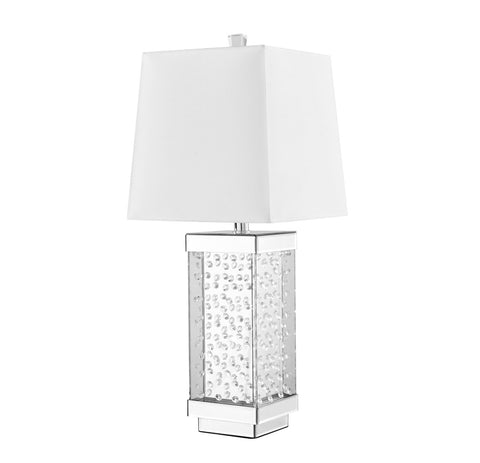 ZC121-ML9309 - Regency Decor: Sparkle Collection 1-Light Silver Finish Table Lamp