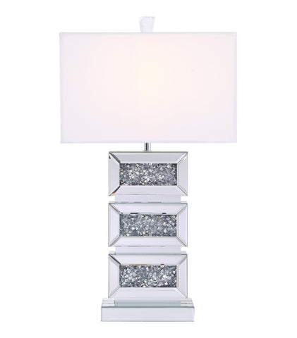 ZC121-ML9336 - Regency Decor: Sparkle Collection 1-Light Silver Crystal Table Lamp